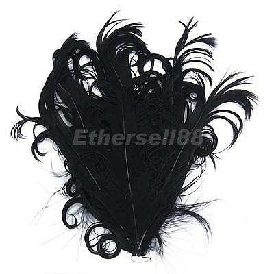 Curly Nagorie Goose Feather Pad for Headbands, Fascinators, Costumes,Bag,Hat,etc