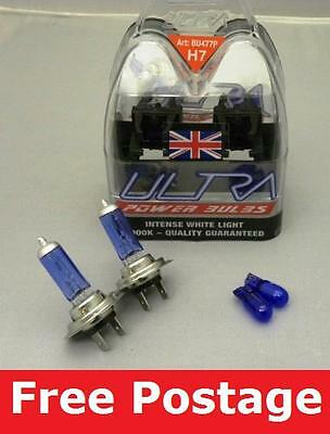 A Pair of H7 Ultra Power Xenon Ice blue Bulbs for VW GOLF MK4
