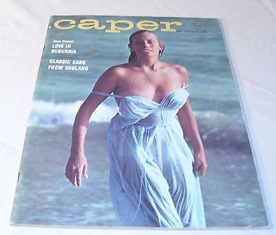 Caper Men's Pin Up Cheese Cake Magazine, Cars, Sports May 1961