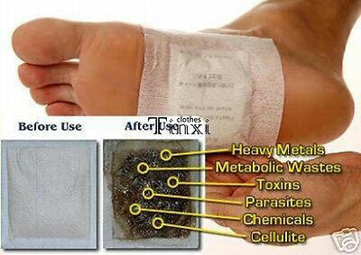 100 Detox Foot Pads Patch Detoxify Toxins Adhesive Keeping Fit Health Care TXCL