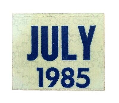 Connecticut 1985 July Unused License Plate Sticker!