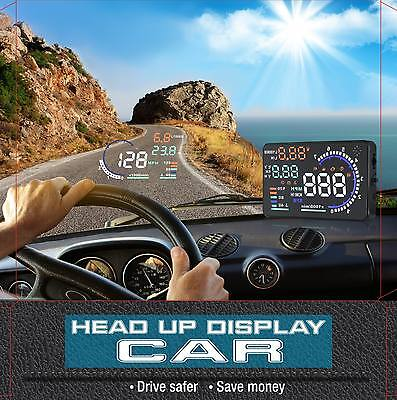 """A8 Car 5.5"""" Large Screen Car Head Up Display Car Speedometer with OBD2 II"""
