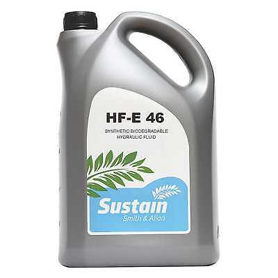 Sustain HF-E 46 Biodegradable Hydraulic Oil Fully Synthetic Ester ISO 46 5 Litre