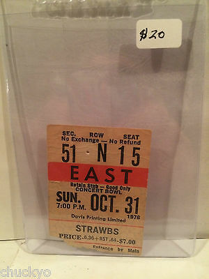 Strawbs Concert Ticket Stub 10-31-1976 Toronto Maple Leaf Gardens - Rare