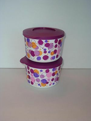 Tupperware Cannister Party Poppin' dark purple bowl 2pk 800m New Limited edition