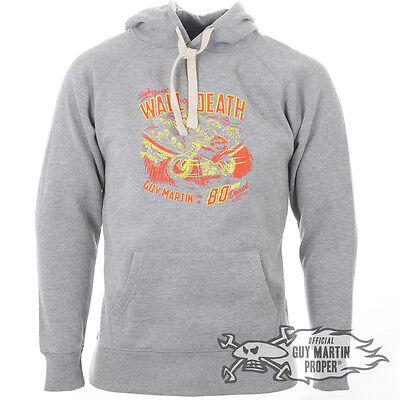 Guy Martin Limited Edition Grey Wall Of Death Hoodie Size S - 2XL