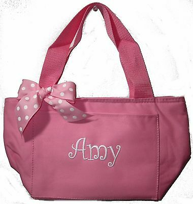Personalized Light Pink Lunch Bag Cooler Tote Monogrammed NEW school teacher