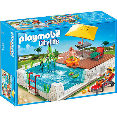Playmobil City Life Swimming Pool with Terrace