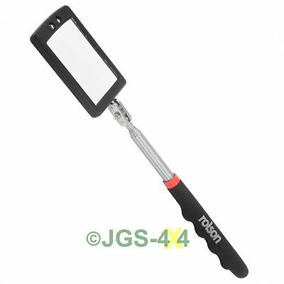 Rolson 2 LED Telescopic Inspection Mirror with LED Lights- 60515