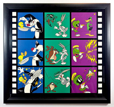 S/O Lights, Camera, Action! Limited Lithograph Print Taz Bugs Daffy Marvin