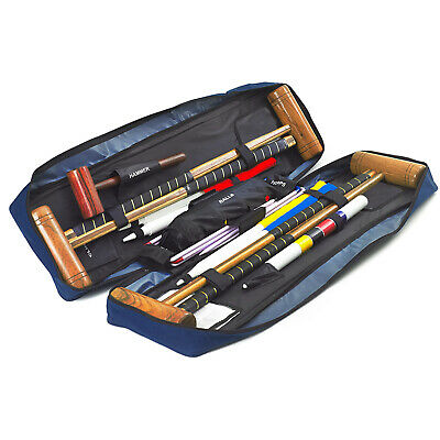 Garden Games Longworth Garden Croquet Set Full Size 4 Player in a Tool Kit Bag