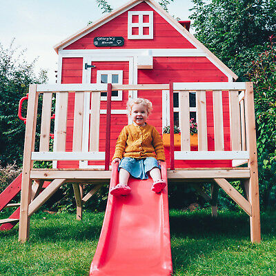Crooked Penthouse Wooden Playhouse Children's garden play outdoor wendy house