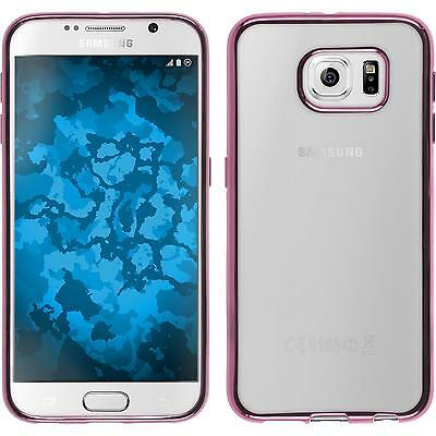 Silicone Case for Samsung Galaxy S6 Slim Fit hot pink + protective foils