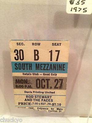 Rod Stewart Concert Ticket Stub 10-27-1975 Toronto Maple Leaf Gardens - Rare