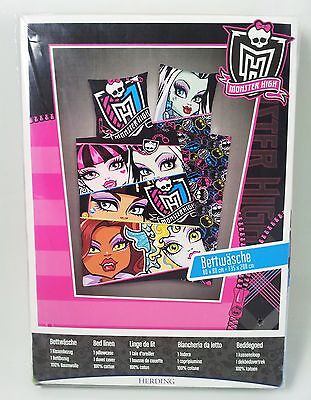 MONSTER HIGH Bettwäsche - NEU - 80 x 80 cm + 135 x 200 cm - OVP