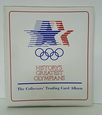 1983 History's Greatest Olympians 99 Card Set With Collectors Binder Ali Thorpe