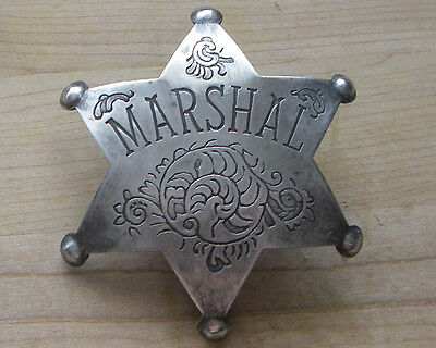 Marshal Star  Badge Bw - 70 Police  Sheriff   Western