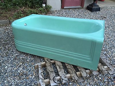 Vintage Green Right Corner Tub