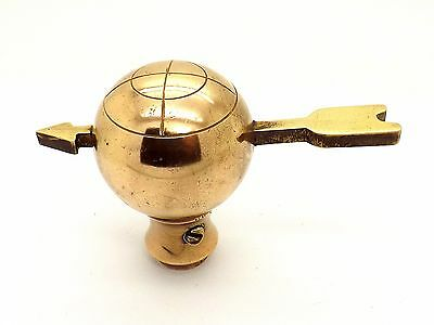 VERY RARE 19th CENTURY ARMILLARY SPHERE BRASS FIGURAL DOOR KNOB