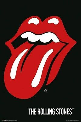 THE ROLLING STONES ~ TONGUE ~ 24x36 Music Poster ~ Mick Jagger Iconic Logo ~ NEW