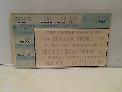 Prince Concert Ticket Stub 4-1-1985 Indianapolis IN - Rare