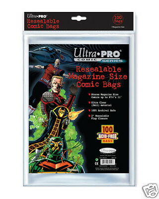 ULTRA PRO Comic Accessories - Resealable Magazine Size Bags (100bags)