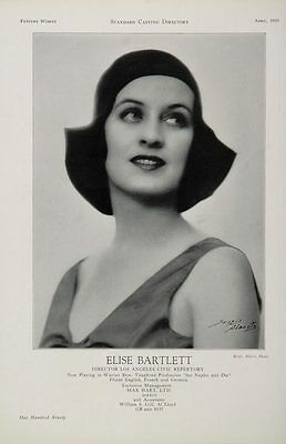 1930 Elise Bartlett Actor See Naples and Die Casting Ad - ORIGINAL CAST2