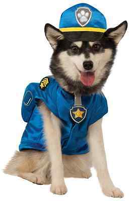 Chase Paw Patrol Police Cute Puppy Fancy Dress Up Halloween Pet Dog Cat Costume