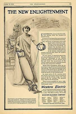 1916 Ad Western Electric Co Appliances Vacuum Cleaner - ORIGINAL TIN2