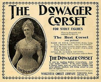 1900 Ad Worcester Corset Dowager Clothing Accessories - ORIGINAL TOM3