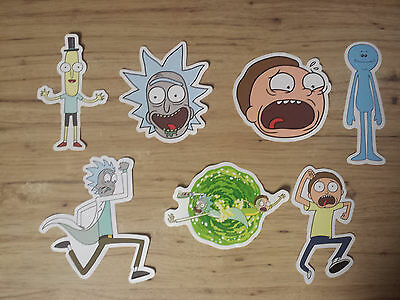 Rick And Morty 7 Sticker Lot # 1 TV Cartoon
