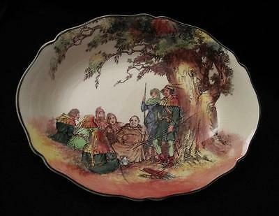 Royal Doulton England Robin Hood Under The Greenwood Tree Oval Fruit Dish D6341