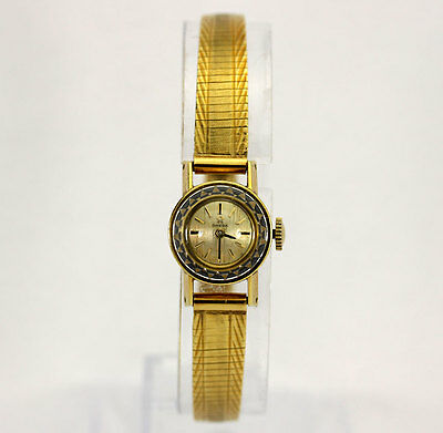 Vintage Omega 18K yellow gold ladies watch classic ornate engraved 22 GM 14.85MM