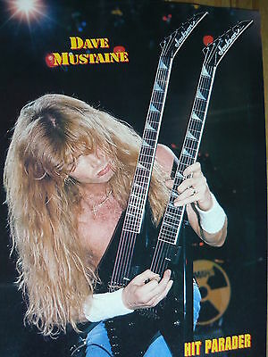 Megadeth (Dave Mustaine) - Cutting (Full Page Photo) (Ref Yb)