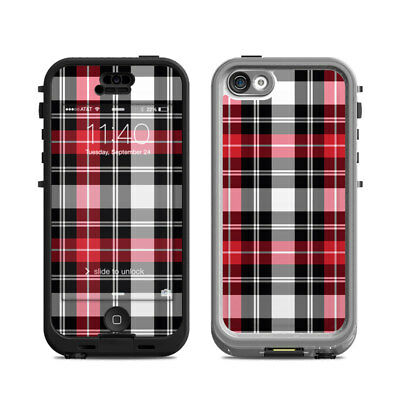 Skin Kit for Lifeproof iPhone 5c NUUD ~ RED PLAID ~ Decal Sticker