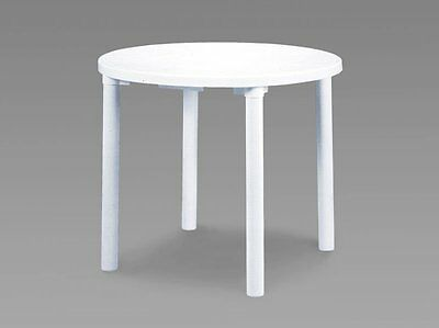 Round Plastic Garden Table (White) Table Only