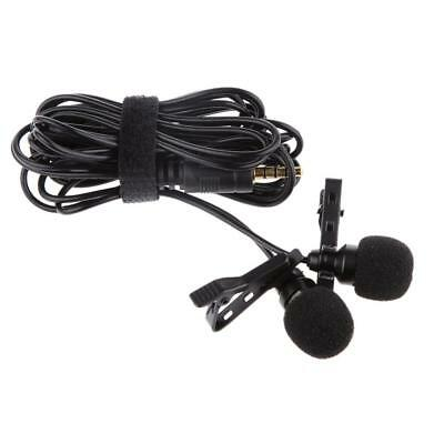 Black Professional Lavalier Lapel Microphone Mic for Mobile Phone Record New