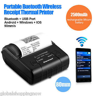 Excelvan Wireless 80mm Bluetooth Thermal Receipt Printer For Android Windows UK