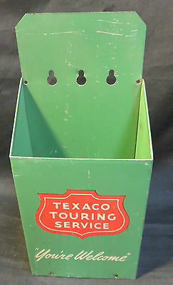 """VTG Texaco Touring Service """"Your Welcome"""" Metal Map Holder w/Map"""