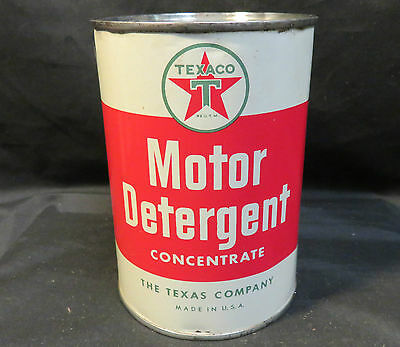 Texaco Motor Detergent Concentrate The Texas Company 1quart Can Unopened