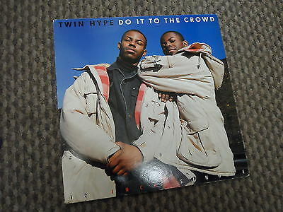 """Twin Hype: Do it to the crowd - 12"""" vinyl record single old school hiphop"""