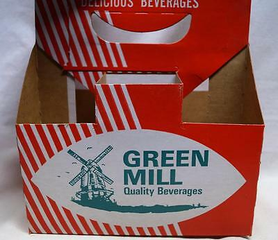 Green Mill Beverages Soda Pop 6 Pack Carton Container Vintage Mead Company
