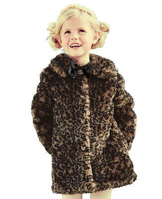 Ladybird Girls Animal Faux Fur Coat