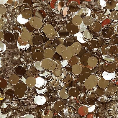10mm Flat Round Sequin Top Hole Paillettes ~ Gold Metallic ~ Loose sequins
