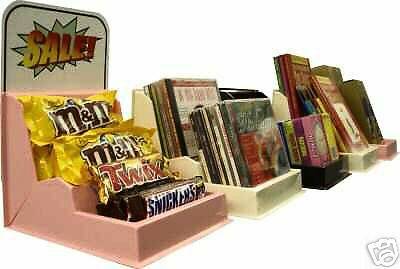 12 Store/Counter/Plastic Display,Candy/Books/CD/DVD/Video Games Concession Sale