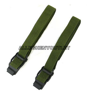 "Qty 2 US Military ALICE CARGO AUTOMOBILE STRAP Pack Lashing Metal OD 52"" GC"
