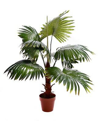 Best Artificial 90cm 3ft FAN PALM Tree Tropical PLANT Office Conservatory new