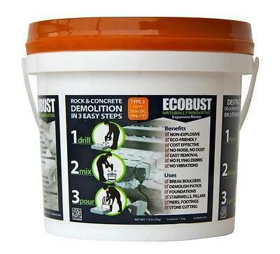 >ECOBUST Type 2  (50F - 77F) ROCK & CONCRETE DEMOLITION AGENT Expansive Mortar