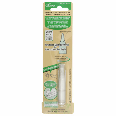 Clover Refill Cartridge - Chaco Liner Pen Style - White  Chalk Fabric Marker
