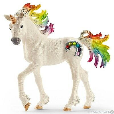 Rainbow Foal Unicorn Figurine from Bayala Series Made by Schleich in 2016